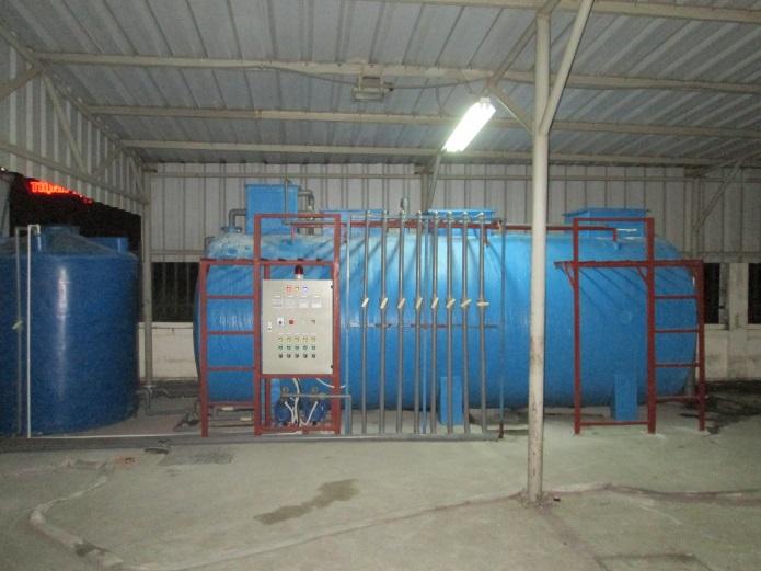 hình ảnh  trạm xử lý nước thải giạt là thực hiện cho công ty Embossa