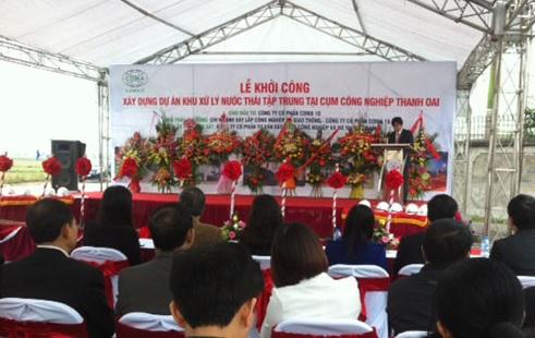 Khu xử lý nước thải công nghiệp Thanh oai - Xử lý nước thải tại Hà Nội
