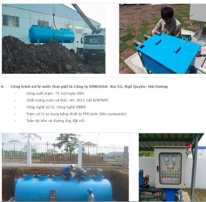 Những dự án xử lý nước thải sinh hoạt của PERSO bị Ocenco sử dụng sai mục đích
