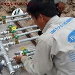 Kiểm tra đấu nối thiết bị xử lý nước thải sinh hoạt